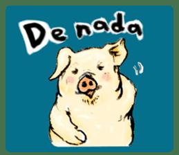 pig's life sticker in spanish sticker #12911538