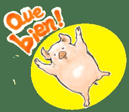 pig's life sticker in spanish sticker #12911542