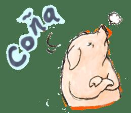 pig's life sticker in spanish sticker #12911543