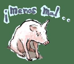 pig's life sticker in spanish sticker #12911544
