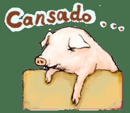 pig's life sticker in spanish sticker #12911546