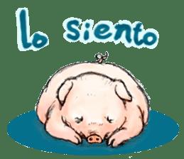 pig's life sticker in spanish sticker #12911547