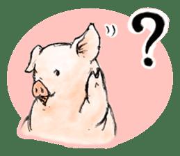 pig's life sticker in spanish sticker #12911548