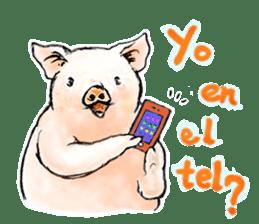 pig's life sticker in spanish sticker #12911549