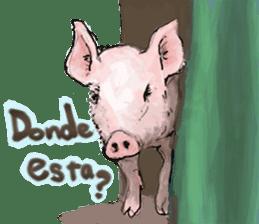 pig's life sticker in spanish sticker #12911550