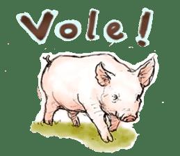 pig's life sticker in spanish sticker #12911552