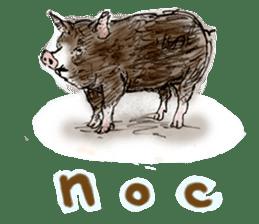 pig's life sticker in spanish sticker #12911553