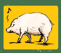 pig's life sticker in spanish sticker #12911555