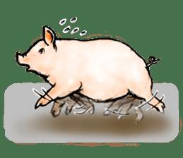 pig's life sticker in spanish sticker #12911557