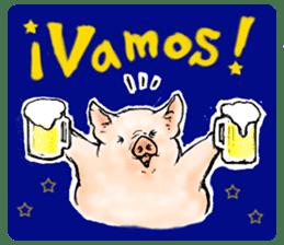 pig's life sticker in spanish sticker #12911559