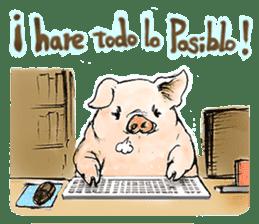 pig's life sticker in spanish sticker #12911562
