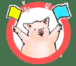 pig's life sticker in spanish sticker #12911563