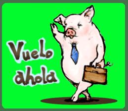 pig's life sticker in spanish sticker #12911564