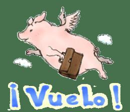 pig's life sticker in spanish sticker #12911565