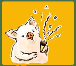 pig's life sticker in spanish sticker #12911567