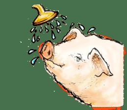 pig's life sticker in spanish sticker #12911568