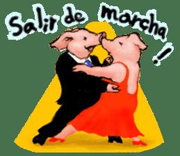 pig's life sticker in spanish sticker #12911571