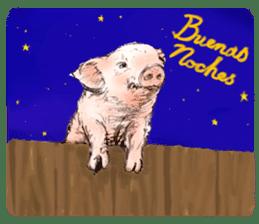 pig's life sticker in spanish sticker #12911572