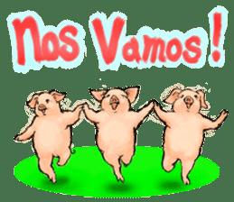 pig's life sticker in spanish sticker #12911573
