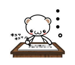 Mr.white bear. Daily life. sticker #12914228