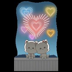 สติ๊กเกอร์ไลน์ [BIG] Njun & Njel Year-End Stickers
