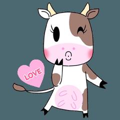 สติ๊กเกอร์ไลน์ Holly Cow