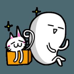 White-Man & Hakoiri-Cat 7