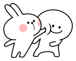 "Rabbit & Smile ""Comic Duo"" sticker #12936566"