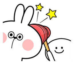 "Rabbit & Smile ""Comic Duo"" sticker #12936597"