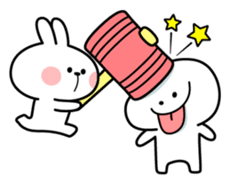 "Rabbit & Smile ""Comic Duo"" sticker #12936598"