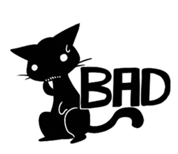 Shadow cat2 sticker #12939431