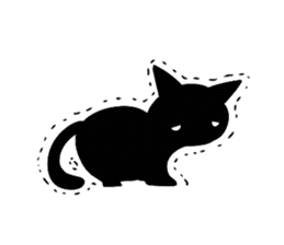 Shadow cat2 sticker #12939445