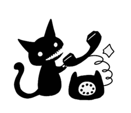 Shadow cat2 sticker #12939448