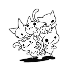 Shadow cat2 sticker #12939462