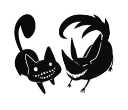 Shadow cat2 sticker #12939464
