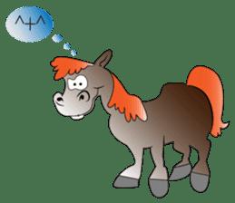 a Horse sticker #12944957