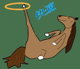 a Horse sticker #12944962