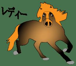 a Horse sticker #12944964