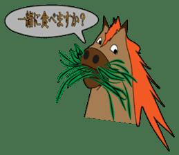 a Horse sticker #12944971