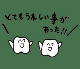 teeth comic - HanoManga sticker #12947074
