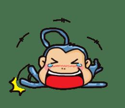 brave baby mokey sticker #12957381