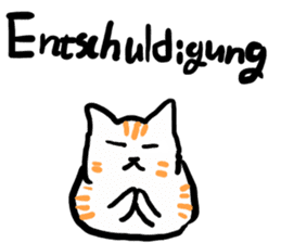 Cat speaking German sticker #12960164