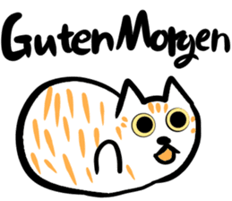 Cat speaking German sticker #12960166