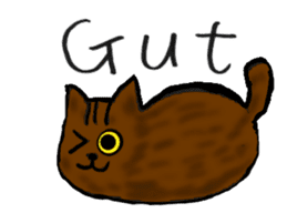 Cat speaking German sticker #12960167