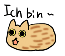 Cat speaking German sticker #12960180