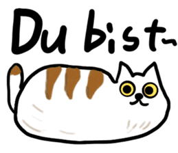 Cat speaking German sticker #12960181