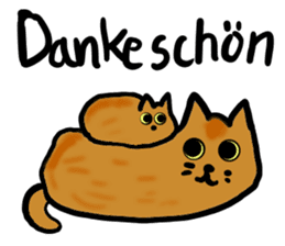 Cat speaking German sticker #12960183
