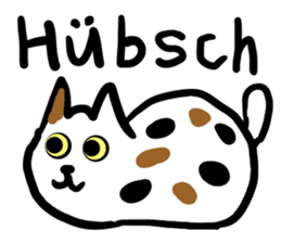 Cat speaking German sticker #12960184