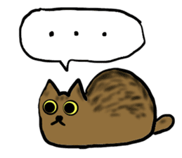 Cat speaking German sticker #12960195