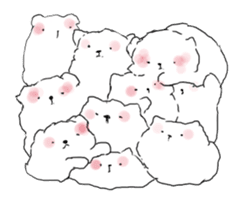 samoyed sticker #12987987